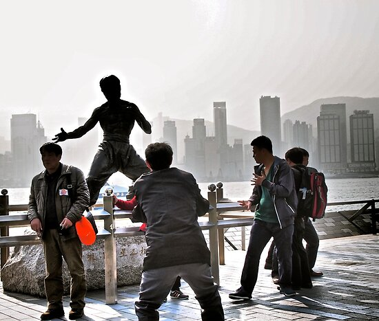 everyone wants to be Bruce Lee in Hong Kong  by LoveDutchArtEbs