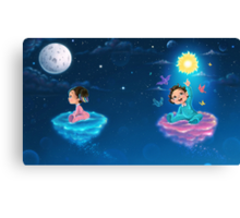 Little babies flying in the night Canvas Print