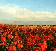 RED IMPRESSIONISM by Icarusismart