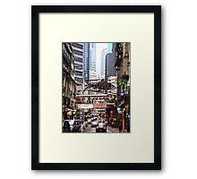a flying fish in Soho Hong Kong Framed Print