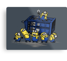 The Minions Have The Phone Box Metal Print