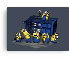 The Minions Have The Phone Box Canvas Print