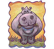 Animal Parade Hippopotamus Photographic Print