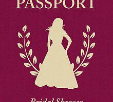 Bridal Shower Passport Invitation by maydaze