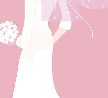 pink bride by maydaze