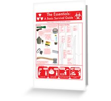 The Essentials: A Basic Survival Guide Greeting Card