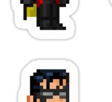 Robin (Dick Grayson) Pixel Figure Sticker Set Sticker