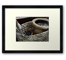 In the knit of time Framed Print