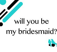 love birds bridesmaid invitation by maydaze