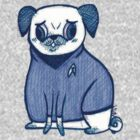 Blue Shirt - Pug Trek by yunnn