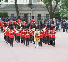 Grenadier Bandsman at Trooping the Colour by Keith Larby