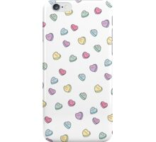 Conversation Candy Hearts iPhone Case/Skin