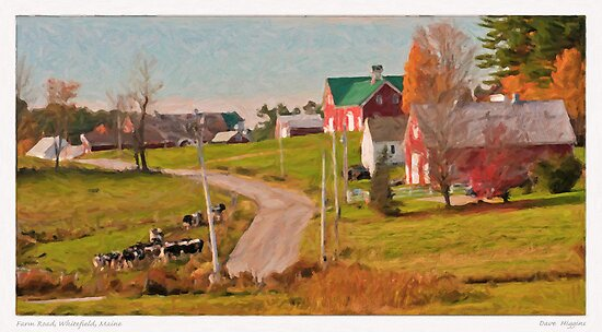 Farm Road, Whitefield, Maine by Dave  Higgins