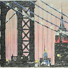 Manhattan Bridge and the Empire State by Peter Brandt