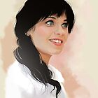 Zooey Deschanel by wandangle