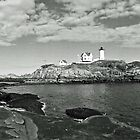 Panoramic View of the Nubble Lighthouse by Bine