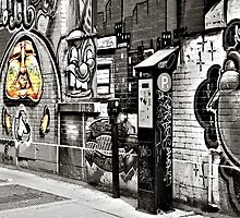Street Art 1 - selective colour by PhotosByHealy