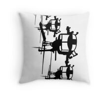 Huey Helicopter Team Sticker/Decal Black v1 Throw Pillow