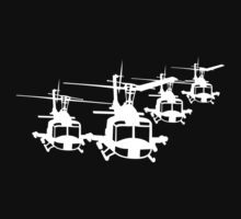 Huey Helicopter Team Sticker/Decal White v1  by jnmvinylstudio