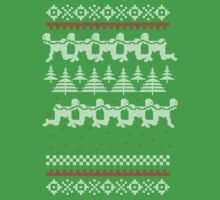 Human Centipede Christmas Sweater - Green by PenguinPlot