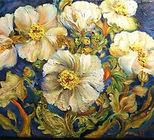 Poppies Crowd My Vase by Barbara Sparhawk