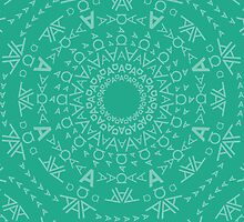 Monogram pattern (A) in Emerald by Janna Barrett