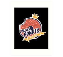 Dilla's Donut Art Print