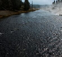 Firehole river at Midway Geyser Basin ~ Yellowstone National Park by Jan  Tribe