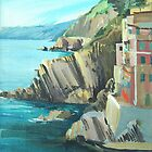 Coastline from Riomaggiore by Lise Temple