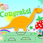 Cute Cartoon Dinosaur Congrats Cut & Paste Craft by cutecartoondino