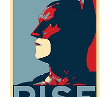 Rise  (Batman) V. 2.0 by KillerBrick Tees