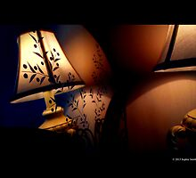 Antique Lamp Reflection In The Mirror by © Sophie W. Smith