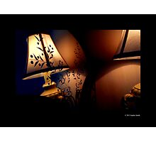 Antique Lamp Reflection In The Mirror Photographic Print