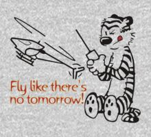 RC Helicopter Hobbes Design on a Sticker or T-Shirt by jnmvinylstudio