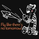 RC Helicopter Hobbes Design on a T-Shirt by jnmvinylstudio