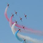 Red Arrows 02 by Peter Barrett
