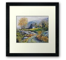 path into the Black Valley Framed Print