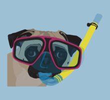 Snorkel Pug, Snorkel Pug! Does whatever a snorkel pug does!!! Kids Clothes