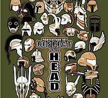Helmets of fandom - respect the head! by CptnLaserBeam