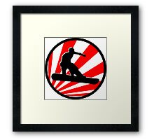 snowboard : red rays Framed Print
