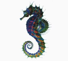 'Watercolour Seahorse - Green' by skinandbones