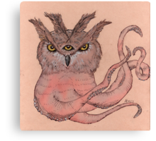 Owltopus Canvas Print
