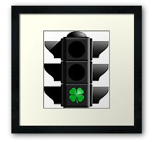 greenlight, go IRISH! Framed Print