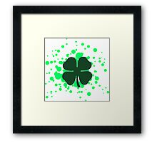 shamrock bubbles Framed Print
