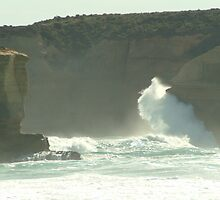 Joe Mortelliti Gallery - Pounding waves at Sherbrooke Beach, near Port Campbell and the Twelve Apostles, Great Ocean Road, Victoria, Australia. by thisisaustralia