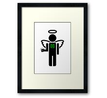 irish angel Framed Print