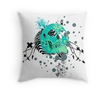 skulls : hi-fi Throw Pillow