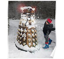 Doctor Who Dalek in Snowball Fight! Poster