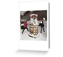 Snowball attack for Doctor Who Dalek Greeting Card