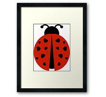 ladybug love. Framed Print
